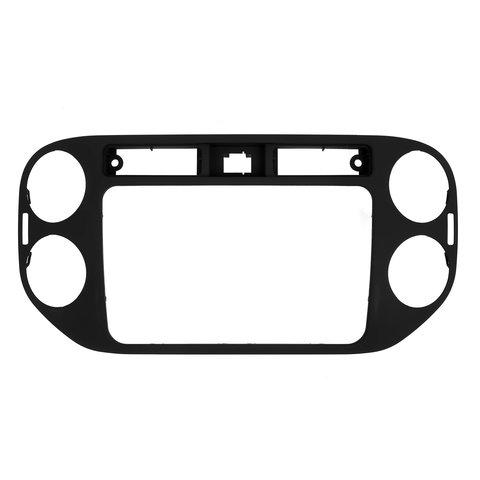 Переходная рамка для Volkswagen Tiguan 2013 14 г.в. для RCD510, RNS510, RCD310, RNS310, RNS315 черная