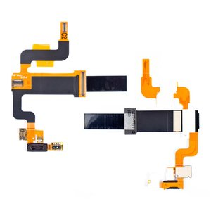 Flat Cable for Sony Ericsson X2  Cell Phone, (speaker, for mainboard, with components)