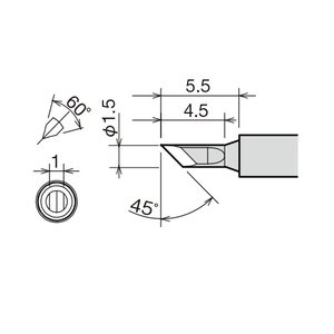 Soldering Iron Tip Goot RX-81HRT-1.5K