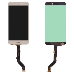 LCD compatible with Huawei GR3 (2017), Honor 8 Lite, Nova Lite (2016), P8 Lite (2017), P9 Lite (2017), (golden, with touchscreen, Original (PRC), PRA-LA1, PRA-LX2, PRA-LX1, PRA-LX3)