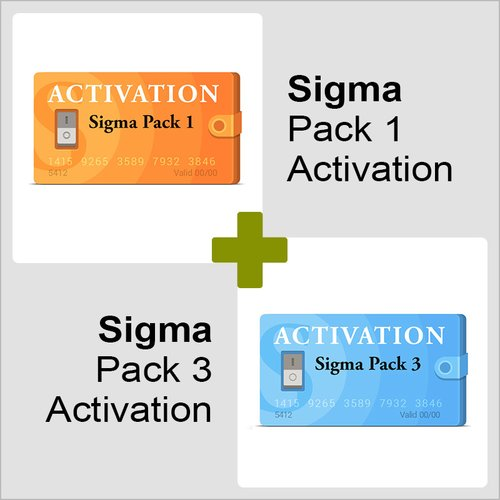 Activaciónes Pack 1 y Pack 3 para Sigma