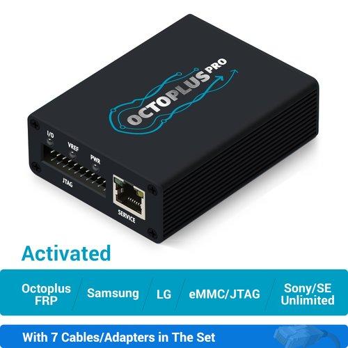 Octoplus Pro Box з набором кабелів/адаптерів 7 в 1 (з активацією Samsung + LG + eMMC/JTAG + Unlimited Sony Ericsson + Sony + Octoplus FRP Tool)