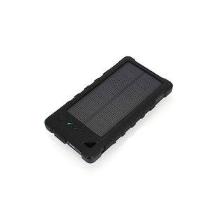 Зарядное устройство на солнечных батареях 8000 мАч (2×USB, IP65, черный)