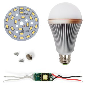 Комплект для сборки светодиодной лампы SQ-Q24 12 Вт (холодный белый, E27)