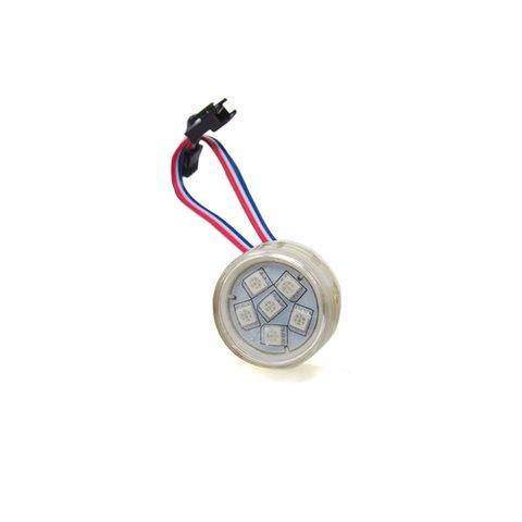 Round LED Module Kit full color, 6 SMD5050 LEDs, 38 mm, IP67, 20 pcs.